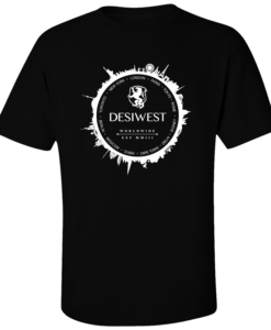 DesiWest Black Around the World T-Shirt
