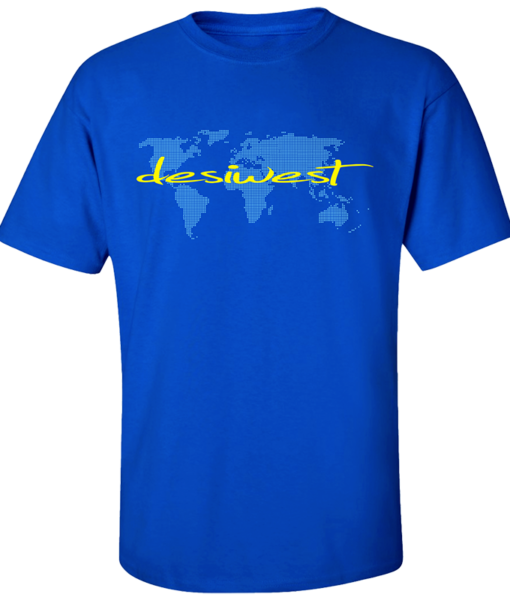 DesiWest World Wide T-Shirt Blue