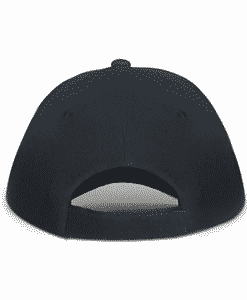 Black Classic Sports Cap Back
