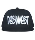 Black and White Urban Snapback Front