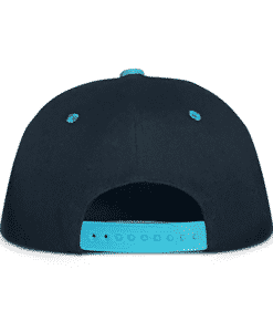 Black and Blue Urban Snapback Cap Back