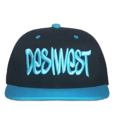 Black and Blue Urban Snapback Cap Front