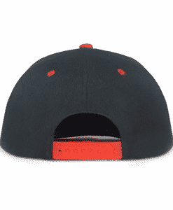 Black and Red Urban Snapback Cap Back