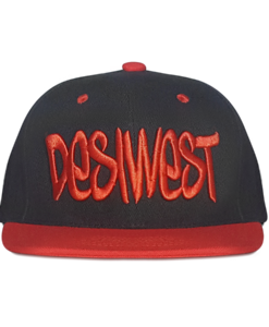 Black and Red Urban Snapback Cap Front