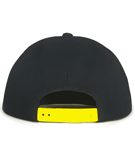 Black and Yellow Urban Snapback Back