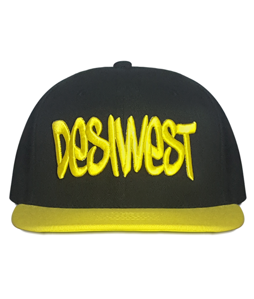 Black and Yellow Urban Snapback Front