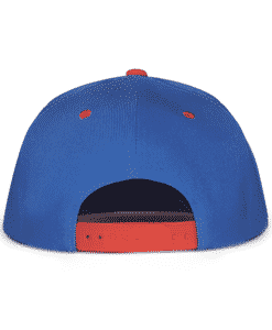 Blue and Red Urban Snapback Cap Back