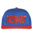 Blue and Red Urban Snapback Cap Front
