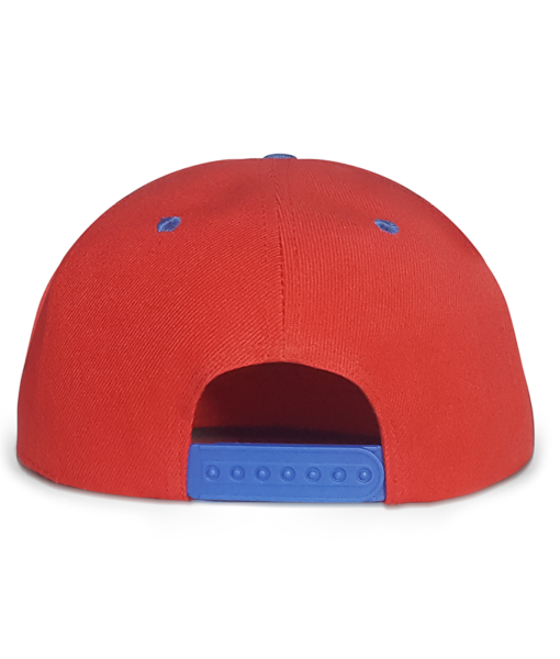 Red and Blue Urban Snapback Cap Back