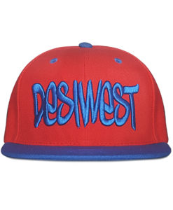 Red and Blue Urban Snapback Cap Front