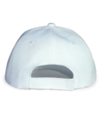 White Classic Sports Cap Back