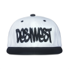 White and Black Urban Snapback Front